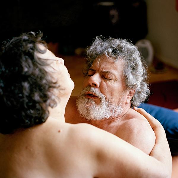 Nackte Menschen haben Sex